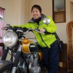 ライダーズカフェ?「二輪車館」で貴重なバイクに触らせていただいた