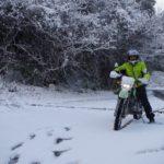 雪国でない人向け!突然の雪の日にバイクに乗らねばならない時