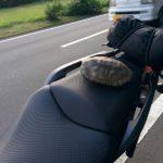 【猫が教える】バイクにネットやゴムロープを使っての荷物固定、積み方